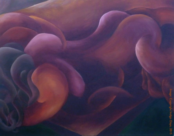 IMAGE: Abstract painting of woman in agony